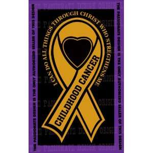 Childhood Cancer Ribbon Decal 4 X 7 Everything Else