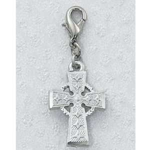 Carded Clip on Medals Celtic Irish Cross Clips on Back Packs, Zippers