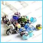 Wholesale Bulk Lot Crystal Glass European Beads 25PCS