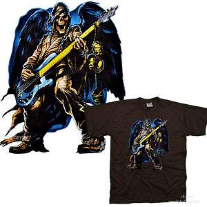 Gothic Gitarre Rock Punk Totenkopf Skull T Shirt *4190