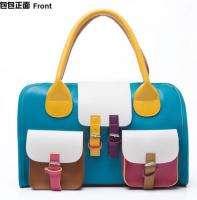 NEW Women HIT Color PU Leather Hobo Satchel Clutch Handbag Bag Moonar