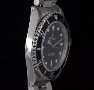 Rolex Watch Mens Black Dial Submariner 14060M Non Date Stainless Steel