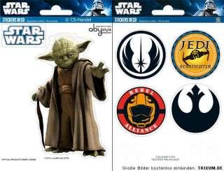 6x Star Wars Clone Yoda Jedi Wandtattoo Wandsticker