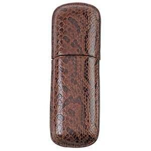 Simran FK 202 ILE Ajmer Brown Snake Skin Italian Leather 2
