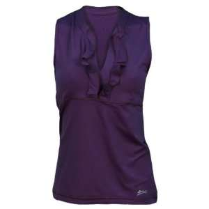 Sofibella Women`s Dream Weaver Lady Ruffle Tennis Tank XLARGE
