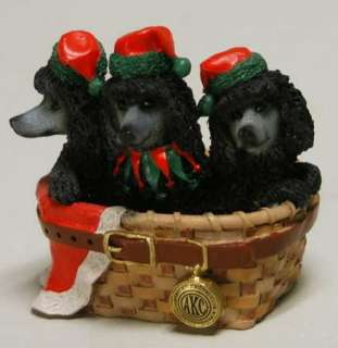 Roman AMERICAN KENNEL CLUB Poodles Figurine 6783068