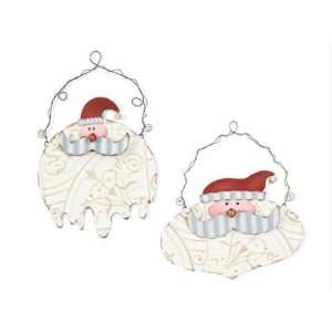 Pack of 6 Eco Country Christmas Santa Clause Wall Signs/Plaques 19.50