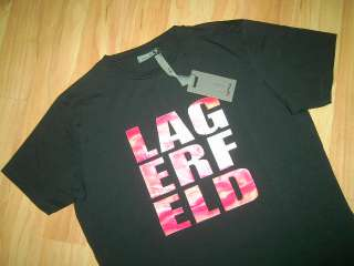 Edles KARL LAGERFELD T Shirt Shirt schwarz * XL NEU