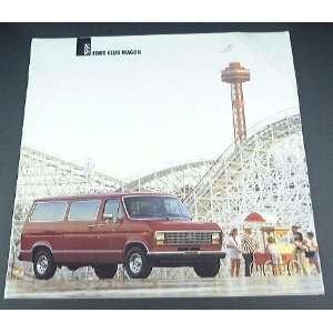 1991 91 Ford CLUB WAGON Van BROCHURE E150 E250 E350