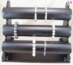 Leatherette Bracelet Jewelry Display Rack Holder d035