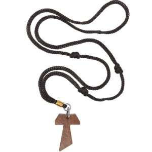 Wooden Tau Cross Necklace ( 1.5 inches Tau and 2 x 13