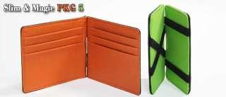 Slim money clip & Magic money clip PKG Slim Wallet card holder leather