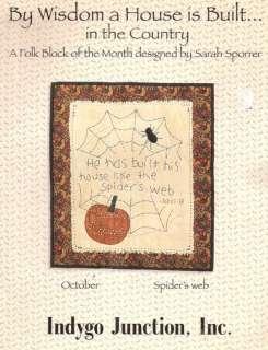 QUILT BLOCK Bible Verse Folk Art Indygo PATTERN 10