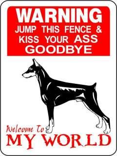 DOBERMAN PINSCHER DOG ALUMINUM SIGN WARNING 1275A