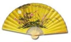 Large Oriental Folding Fan 59 x 35 Wall Decor.