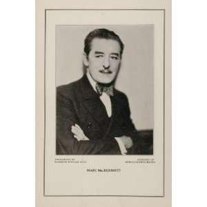 1927 Silent Film Star Marc MacDermott MGM Print   Original Print