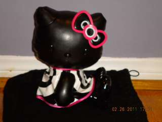 NWT MAC HELLO KITTY PLUSH PLEATHER DOLL 8