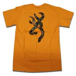 Gold Browning Camouflage Buckmark T Shirt   Logo Color Camo |