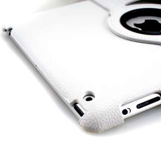 White 360 Rotating Magnetic Leather Case Stand Smart Cover for the New
