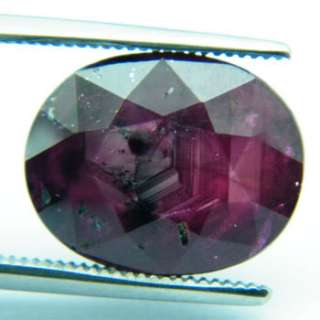 JUMBO 9.70ct NATURAL OVAL FACET RED RUBY