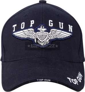 Navy Blue Top Gun Deluxe Low Profile Mesh Adjustable Cap 613902943506