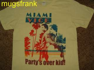 Miami Vice Tv Show Crockett & Tubbs Partys Over Kid! T Shirt