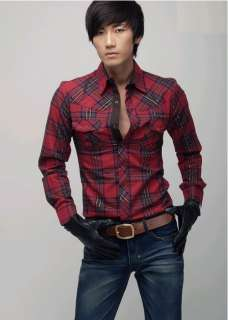 ST68 New Mens Casual Luxury Stylish Casual Dress Slim Shirts 3Colours