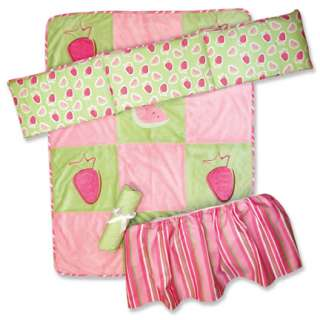 Trend Lab Juicie Fruit 4 pc Baby Girl Nursery Crib Bedding Set