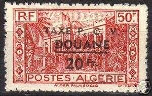 Algeria Douane Taxe overprint stamp MLH VF