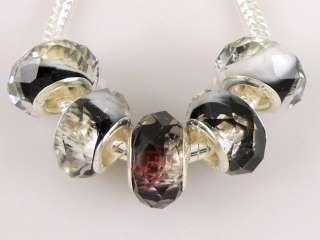 30pcs Crystal Glass Beads Fit Charm Bracelet Z27