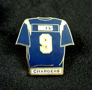 Chargers Drew Brees Jersey Style Player Pin