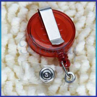 Retractable ID Card Badge Holder Reels w Clip New