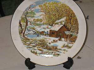 USA AMERICAN PRIDE SCENE LOG CABIN CHRISTIAN DISH KITCHEN PRAYER