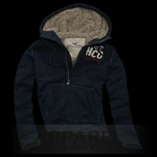 Hollister%Abercrombie~Calabasas~Jacke~Hoodie~Fur~Pelz~Fleece~Pullover