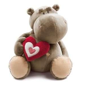 NICI Candy Love, Nilpferd, grau, sitzend, 35cm, Plüsch: .de