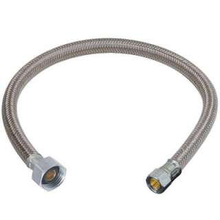 Compression x 1/2in. FIP x 16 in. Polymer Braid Faucet Water Connector