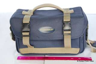 Quantaray Camera gadget shoulder bag case navy