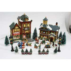 Home Accents Holiday 20 Piece Lighted Christmas Village Set 11537711B