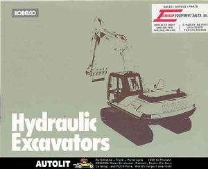 1985 ? Kobelco K905 Hydraulic Excavator Brochure Japan
