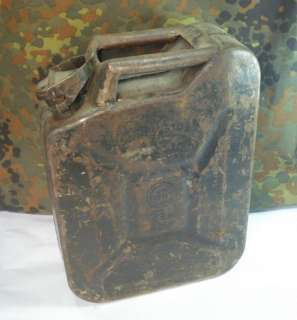 WWII GERMAN WEHRMACHT FUEL GAS CONTAINER JERRY CAN 5L.