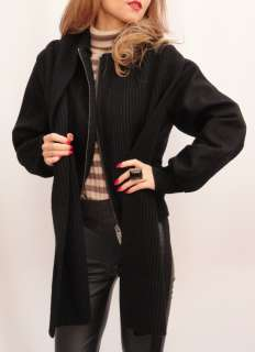 BN Auth BURBERRY Black Wool Jacket / Coat UK12 + With A Cashmere Wool