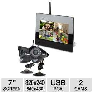 Lorex LW2712 Wireless Monitoring System   7 LCD Monitor, Built in