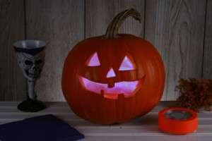 talking PUMPKIN STROBE LIGHT halloween costume decor