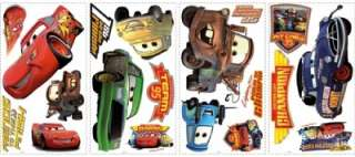 New Disney Cars Wall Decals Lightning McQueen Stickers 034878035000