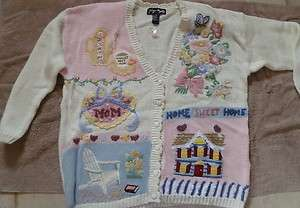 GLADYS BAGLEY WORLDS BEST MOTHERS SWEATER, SIZE XL   NEW