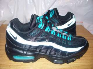 Womens Nike Air Max 95 $145 Black Turquoise Teal Blue 3M 8 2011 2010