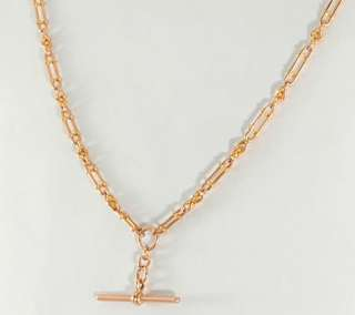 Antique 9 Ct Rose Gold Fancy Watch Chain or Necklace 40cm c1910