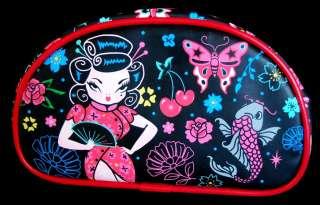 Geisha Schminktäschen Kosmetiktäschchen Beauty Süß Tattoo Trash
