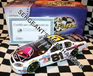 EARNHARDT Jr. TACO BELL COLORCHROME TALLADEGA WIN 124 MONTE CAR 2004