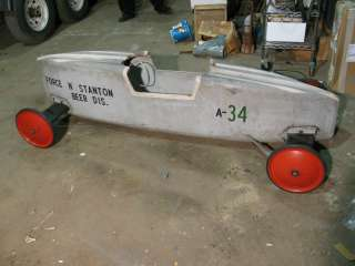 SOAP BOX DERBY CAR 1964 RACER ORIGINAL AS DISPLAYED AT 64 WORLDS FAIR